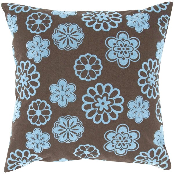 Flock Design Multi Flower Feather-filled Throw Pillow