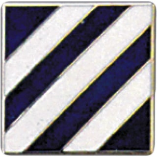 United States Army 003rd Infantry Division Pin