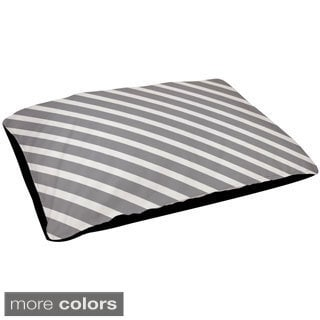 18 x 28 -inch Classic Grey, Oatmeal, Rain and Cloud Outdoor Striped Dog Bed
