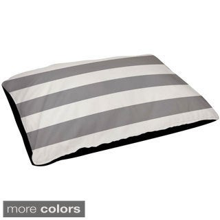 18 x 28 -inch Two-tone Outdoor Striped Dog Bed