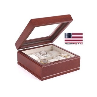 The Lieutenant Cherry Wood Watch Storage Chest