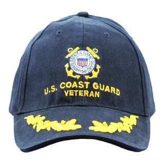 US Coast Guard Veteran Cap with Scrambled Eggs