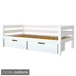 Poker Twin Daybed with Back Guard Rail and Underbed Storage