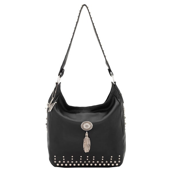 American West BlackSlouch Zip top Shoulder Bag