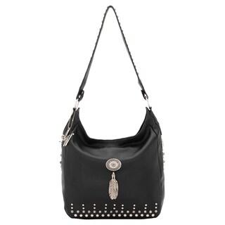 American West BlackSlouch Zip top Shoulder Bag