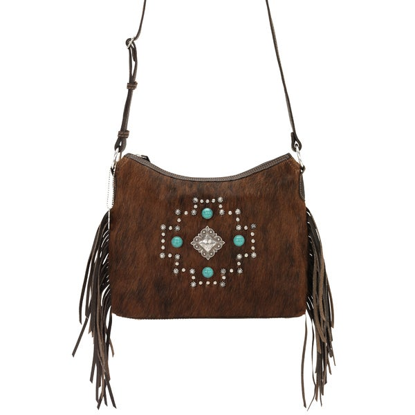 American West Chocolate/Brindle Hair Crossbody/shoulder bag