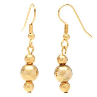 Detti Originals Gold Tone Gold Bead Earrings