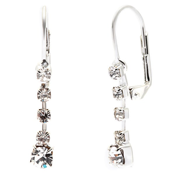 Detti Originals Silver Tone Crystal Drop Earring