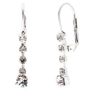Detti Originals Silver Tone Crystal Drop Earring