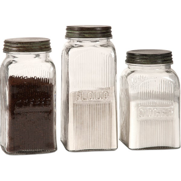 Dyer 3-piece Glass Canister Set