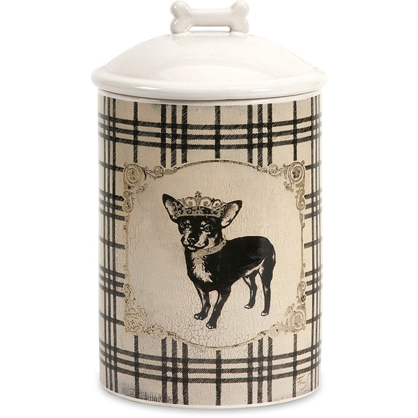 Small Ceramic Dog Biscuit Canister