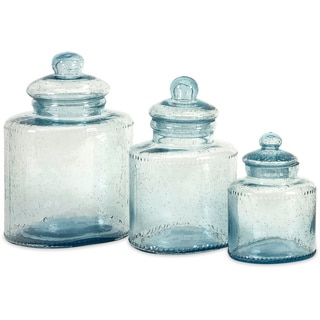 Cyprus 3-piece Glass Canister Set