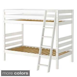 Bunk Bed with Angle Ladder and Storage Drawers