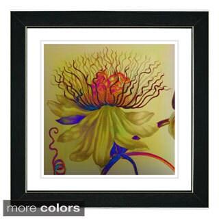 Studio Works Modern 'Red Bonobo Bell Flower' Framed Fine Art Print