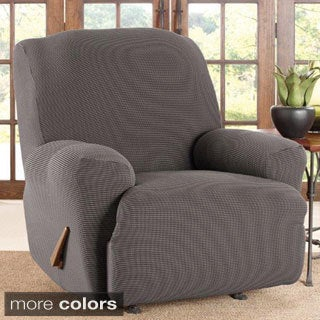 Sure Fit Stretch Two-tone Honeycomb Recliner Slipcover