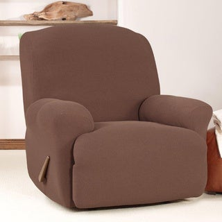 Sure Fit Stretch Cavalry Twill Recliner Chocolate Slipcover