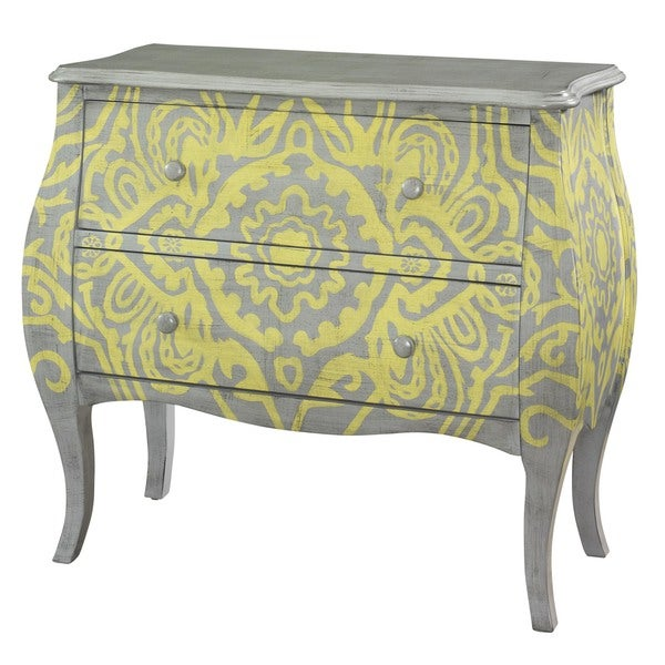 Powell Yellow and Grey Bombe Chest