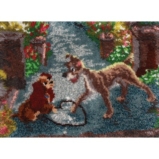 """Latch Hook Kit 27""""X20""""-Lady And The Tramp"""