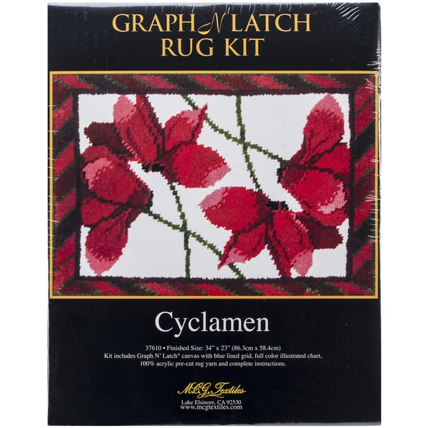 "Latch Hook Kit 34""X23""-Cyclamen"
