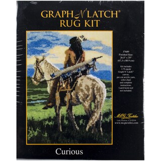 "Latch Hook Kit 26.5""X35""-Curious"