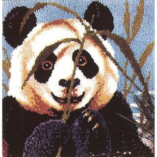 "Latch Hook Kit 27""X27""-Peeking Panda"