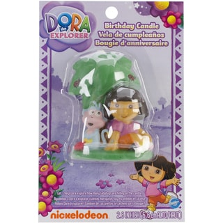 Dora With Boots Birthday Candle