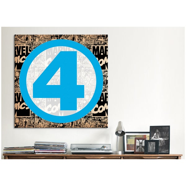 iCanvas Marvel Comic Book Marvel Fantastic Four Logo Canvas Print Wall Art