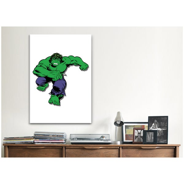 iCanvas Marvel Comic Book: Hulk Attack Canvas Print Wall Art