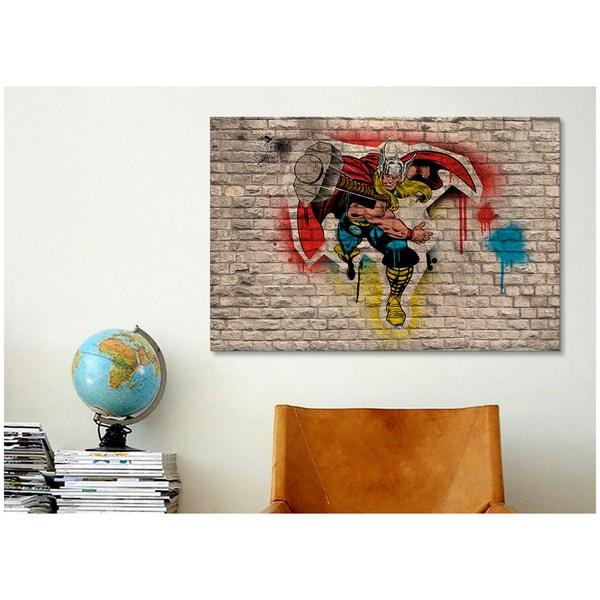 iCanvas Marvel Comic Book: Thor Graffiti Canvas Print Wall Art