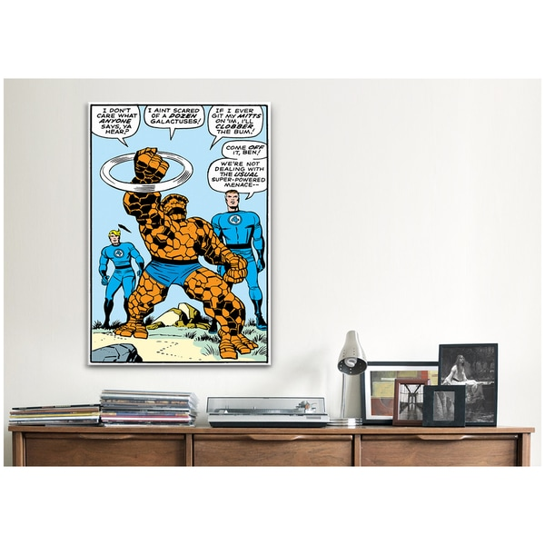 iCanvas Marvel Comic Book Fantastic Four Panel Art A Canvas Print Wall Art