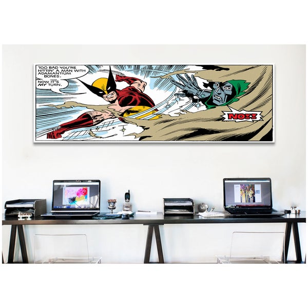iCanvas Marvel Comic Book Xmen Wolverine Dr Doom Panel Art Canvas Print Wall Art