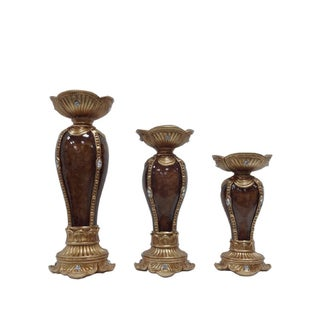D'Lusso Designs Classic Collection 3-piece Hurricane Candle Set