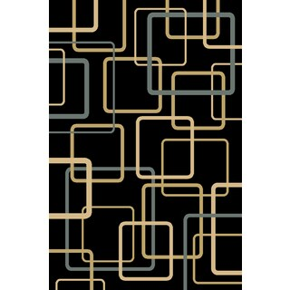 Christopher Knight Home Interlude Portico 030 Circuitry Black Area Rug (7'10 x 9'10)