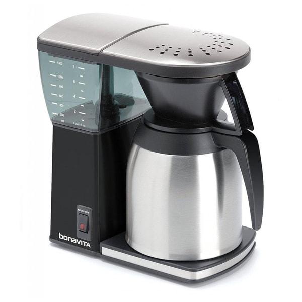 Bonavita BV1800SSB Black 8-cup Coffee Maker With Thermal Carafe - 16671364 - Overstock.com ...