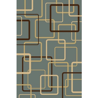 Somette Interlude Portico 030 Circuitry Blue Area Rug (9'10 x 12'10)