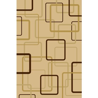 Somette Interlude Portico 030 Circuitry Ivory Area Rug (9'10 x 12'10)
