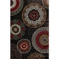 Christopher Knight Home Olympia Hybrid 070 Astrid Black Area Rug (3'3 x 5'3)