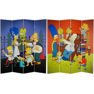 The Simpsons 6-foot Canvas Room Divider