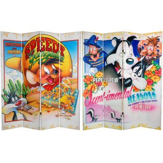 Double Sided Loony Toons Canvas Room Divider
