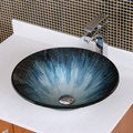 Elite 1202 Modern Design Tempered Glass Bathroom Vessel Sink
