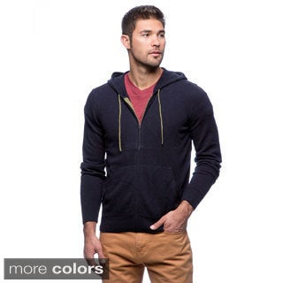 Cullen Men's Tipped Two-tone Zip-up Cashmere Hoodie