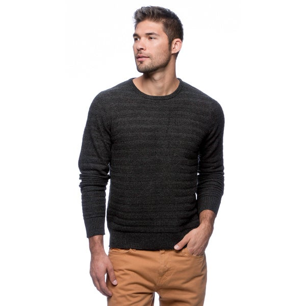 Cullen Men's Textured Stripe Cashmere Crew-neck Sweater