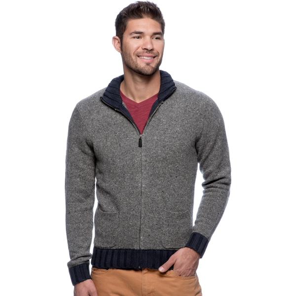 Cullen Men's Quarry Combo Zipper-front Cardigan