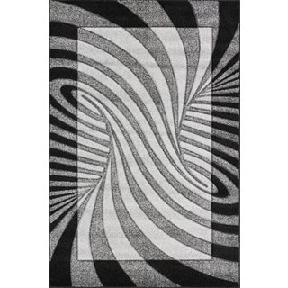 Christopher Knight Home Oasis Waves Black/Grey Area Rug (7'10 x 9'10)