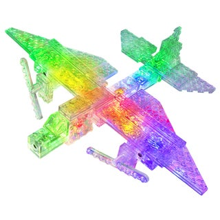 Laser Pegs 12-in-1 Cargo Plane Lighted Construction Toy
