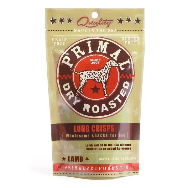 Primal Lamb Lung 1.5-ounce Crisp Dog Treats