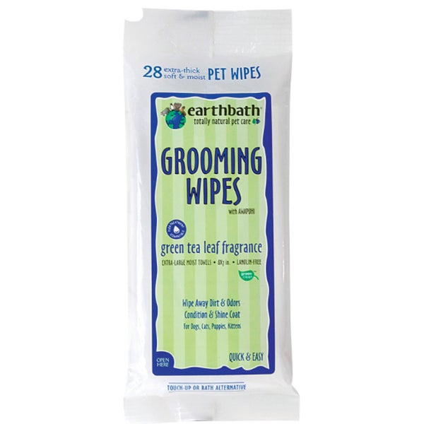 Earthbath Green Tea 28-count Pet Grooming Wipes