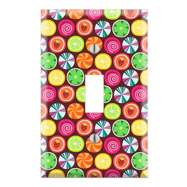 Candy Clover Strawberry Fruit Pattern Decorative Wall Plate Cover