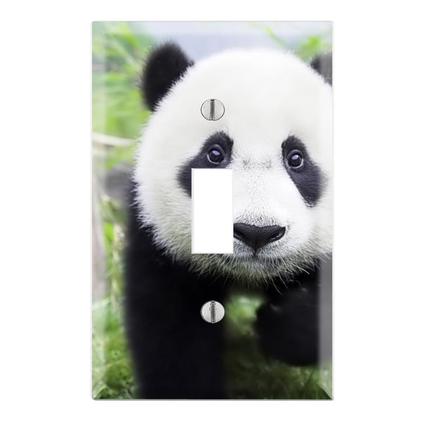 Baby Panda Decorative Wall Plate Cover