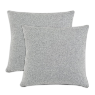 Somette Fleece Lt Grey Simply Soft 17-inch Throw Pillows (Set of 2)